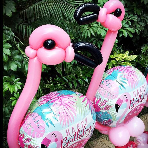 "18"" Rnd Happy Birthday Flamingo Balloon"