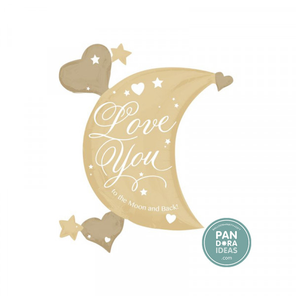 Anagram Love You To The Moon & Back Foil Metalique Balloon