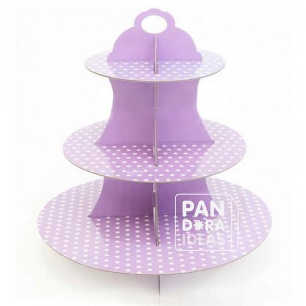 Lilac Cupcake Tier