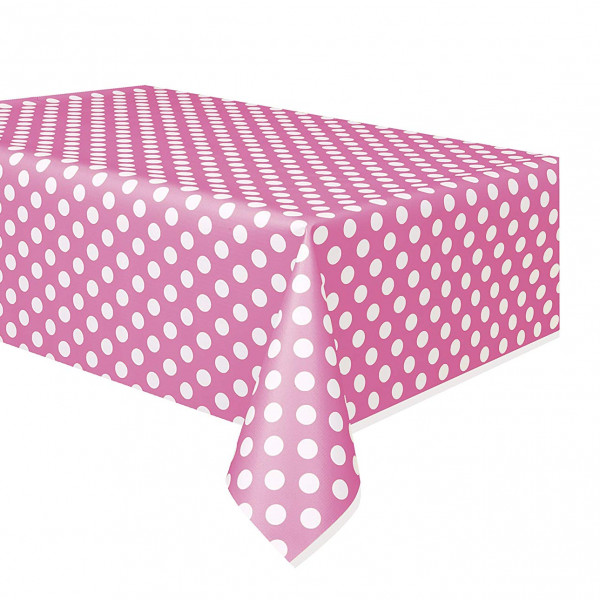 Pink Polka Dot Table Cover