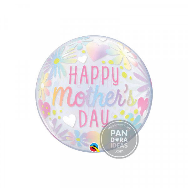 "22"" Mother's Day Floral Pastel Deco Bubble"
