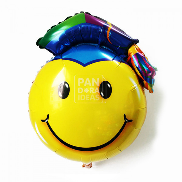 Big Smile Head Graduation Balloon