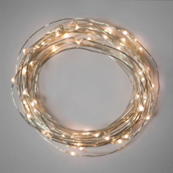 2M LED Fairy Light Silver Wire - Warm White