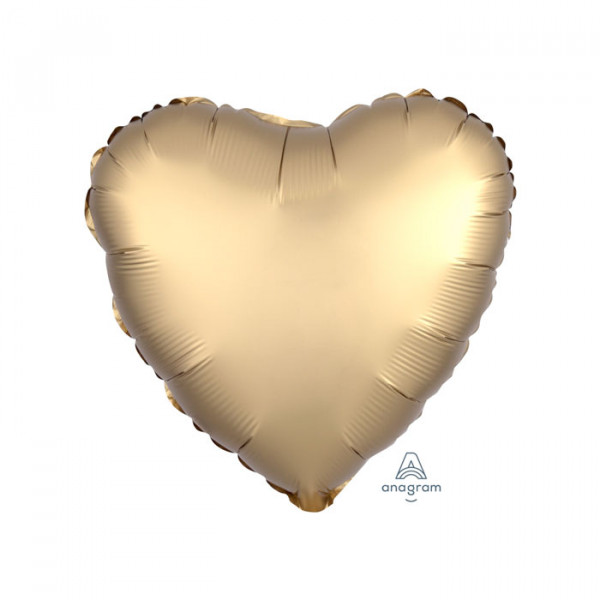 "18"" Heart Satin Luxe Gold"