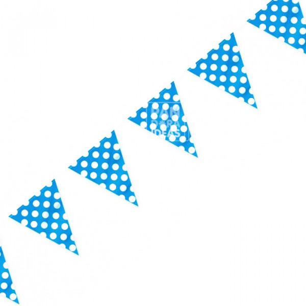 Blue Polkadot Bunting Flag