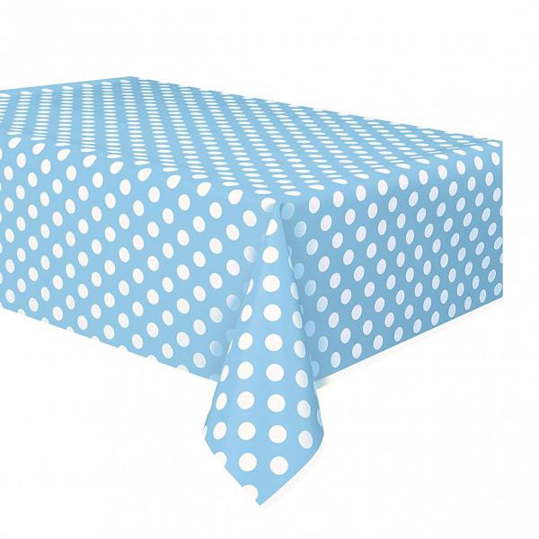 Blue Polka Dot Table Cover