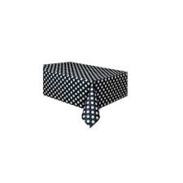 Black Polka Dot Table Cover
