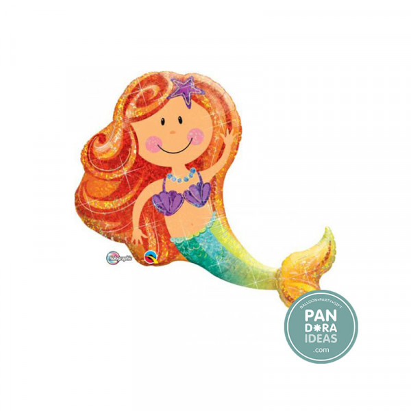"38"" Rainbow Holographic Mermaid"