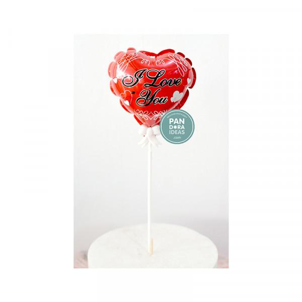 I LOVE YOU Cake Topper Balloon