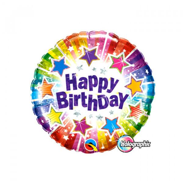"18"" Happy Birthday Star Holographic"