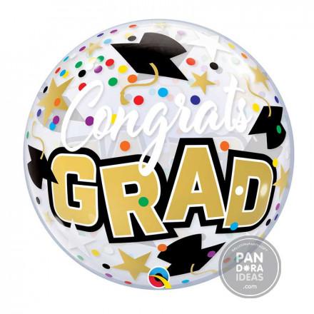 """22"""" Congrats Grad Bubble Balloon"""