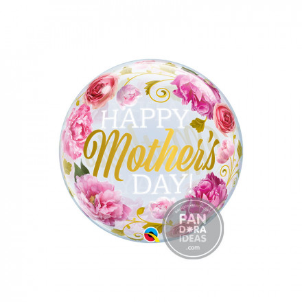 "22"" Mother's Day Pink Peonies Deco Bubble"
