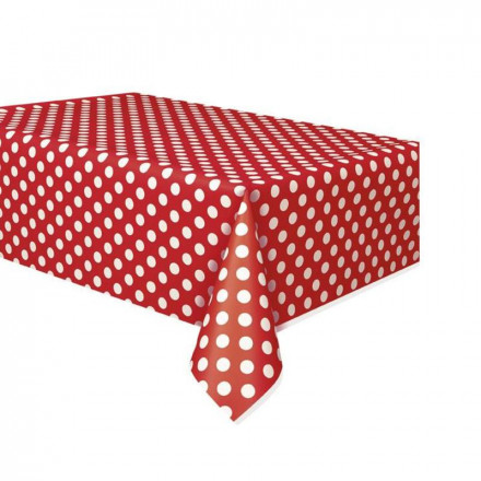 Red Polka Dot Table Cover
