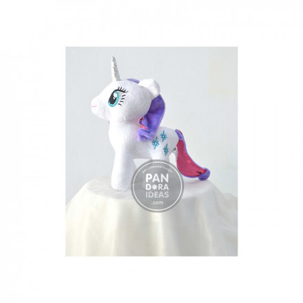 White Little Pony 10""