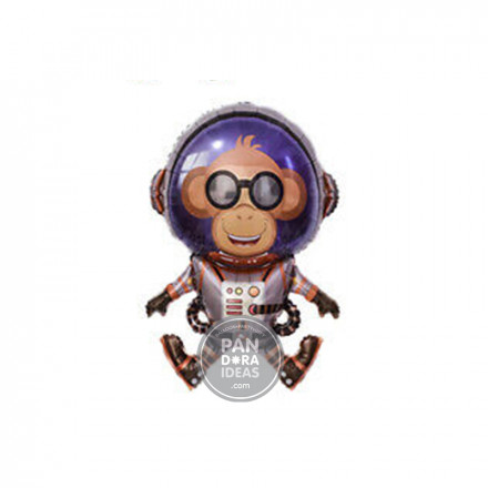 Astronaut Monkey Foil Balloon