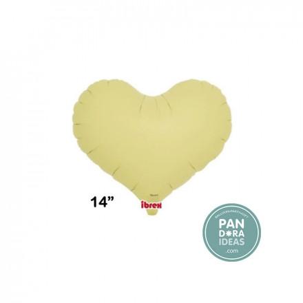 "14"" Jelly Pastel Yellow Heart Foil Balloon"