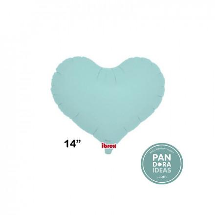 "14"" Jelly Pastel Blue Heart Foil Balloon"