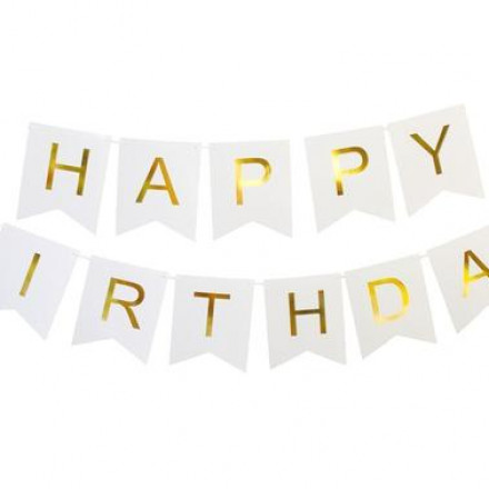 Simple White HBD Garland