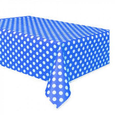 Dark Blue Polka Dot Table Cover