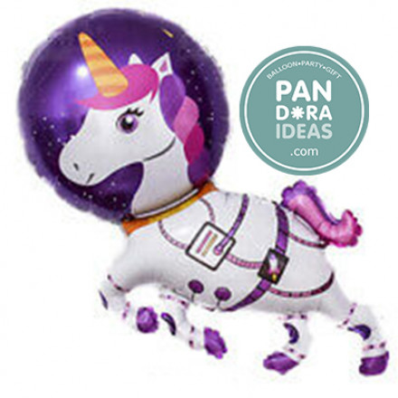 Astronaut Unicorn Foil Balloon
