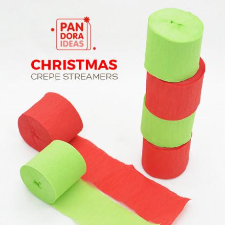 Christmas Crepe Streamers
