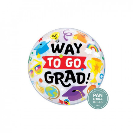 "22"" Way To Go Grad Everything Bubble Balloon"