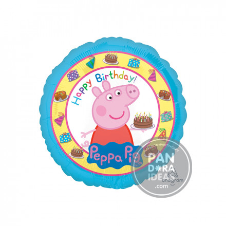 "17"" Round Peppa Pig Balloon"